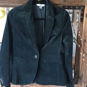 EUC Old Navy hunter green velvet blazer